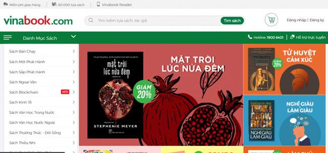 Vinabook là Nhà sách trên mạng hàng đầu tại Việt Nam