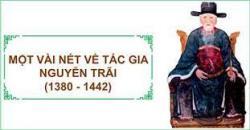 Cuộc đời và sự nghiệp văn học của danh nhân Nguyễn Trãi